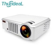ThundeaL Led33 + 02 Plug Proyector Android 4.4 WIFI Inteligente 2000 Lúmenes HD 3D Proyector Proyector de Cine En Casa Inalámbrico SD HDMI USB VGA