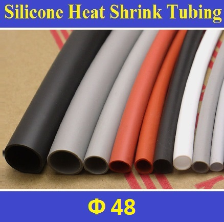 48mm Flexible Soft 1.7:1 Silicone Heat Shrink Tubing Brand New High Quality Free Shipping - 1 Meter 14x16mm ptfe teflon tubing pipe id14mm od16mm 600v high quality brand new wire protection f46 1 meter
