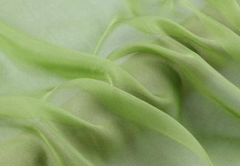 """Howmay  100% pure silk fabric chiffon 5.5m/m 140cm 55"""" grass green 5# color for scarf dress scarf decoration"""