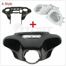 Motorcycle Batwing Inner Outer Fairing Speakers Cover For Harley Electra Glide Street Glide Ultra Limited Tri Glide 2014-2018 chrome motorcycle inner fairing cap cover case for harley davidson touring electra street glide 2014 2015 2016