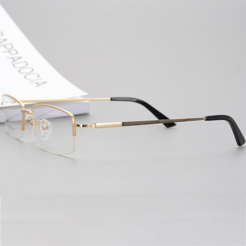 Anti Brillen Randlose Blau Halb Gold 150mm Der Männer Licht Breite Multifokale Cubojue Grad Optic Progressive Photochrome PUw5q
