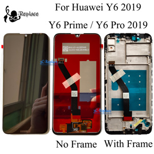 Original Black 6.1 inch For Huawei Y6 2019 / Y6 Prime 2019 / Y6 Pro 2019 LCD Display Touch Screen Digitizer Assembly With Frame