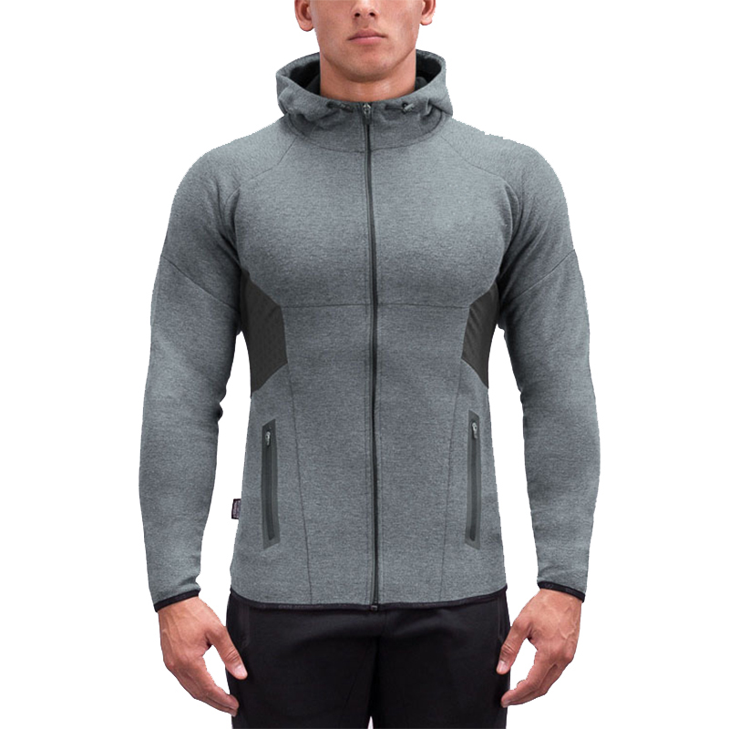 a8dc69c6128 Detector Mens Running Jackets Fitness Breathable Hooded Sweatshirt Zipper  Slim Fit Pullover Hoodies Gym Sportswear-in Hiking Jackets from Sports ...