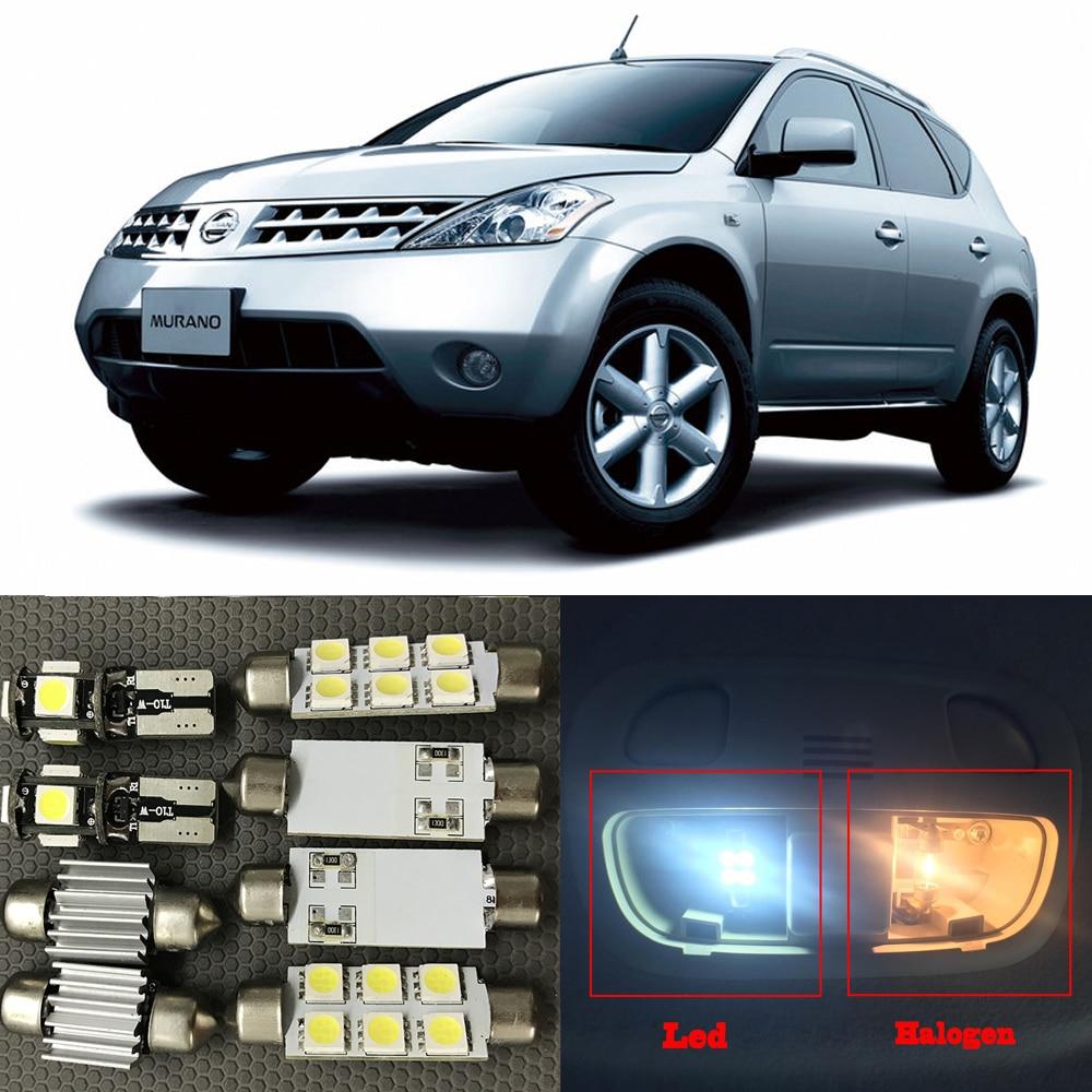 13pcs white auto led interior light bulbs kit for 2003 2007 nissan murano dome map