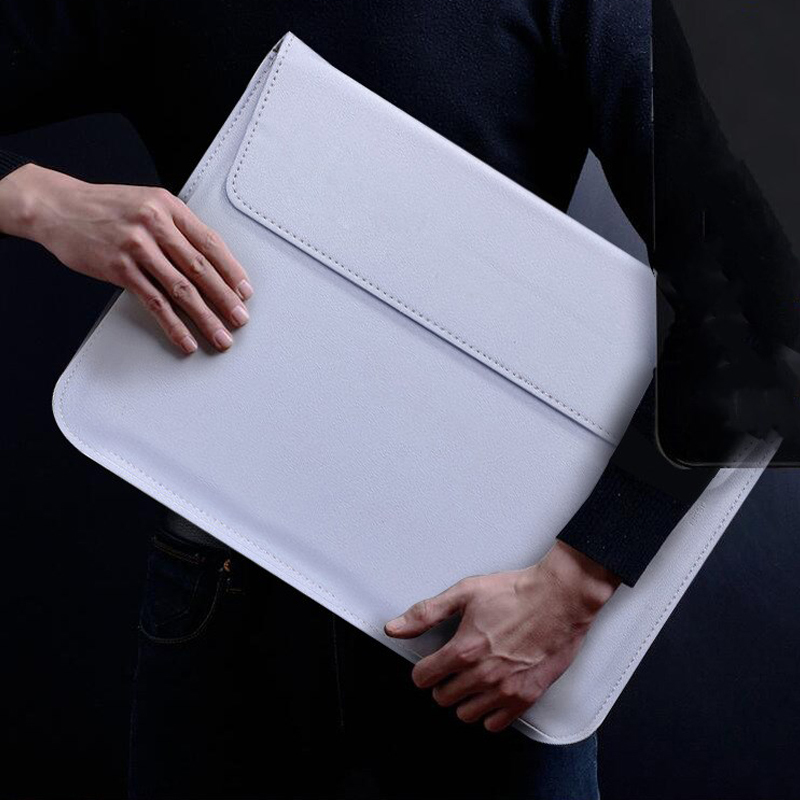 Image 5 - New Notebook Case Laptop Sleeve Cover For Macbook Air 13 Pro Retina 11 12 2018 15 Touch Bar For Xiaomi Pro 15.6 Leather Bag-in Laptop Bags & Cases from Computer & Office