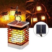 все цены на Solar Power LED Light Flickering Flame Effect Lamp Landscape Candle Lamps Hanging Lantern Waterproof Garden Camping Decor Light онлайн