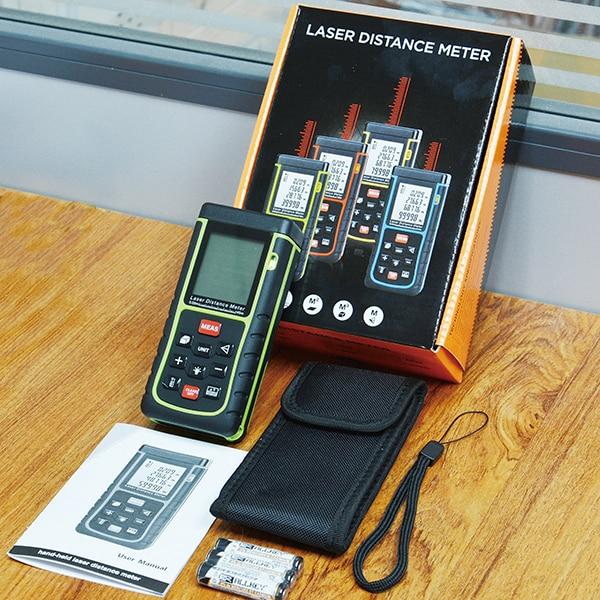 SW-E80 Free Shipping HOT SALE Sndway Laser Distance Meter 80M 262ft Rangefinder Digital Range Finder Measure Area Volume Tool