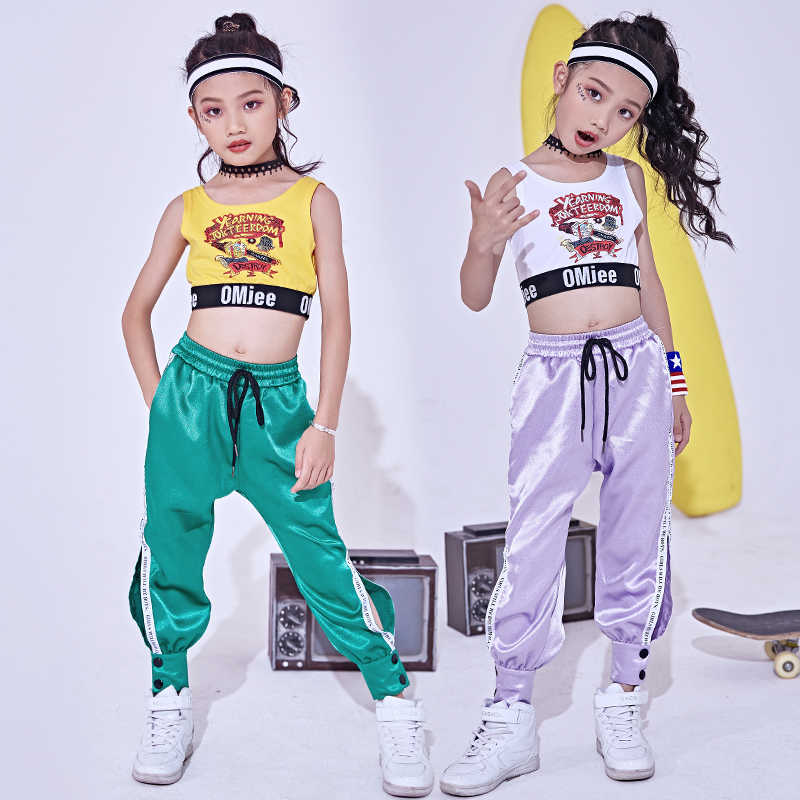 f5e43a1002d7 Detail Feedback Questions about Children's street dance set girls modern Jazz  dance costumes hip hop trousers girls practice clothes performance clothing  ...