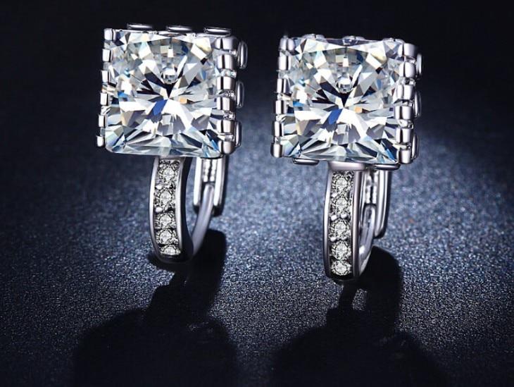 SALE Fashion Jewelry Needle Name Opal Earrings Female Crystal From Austrian Woman Christmas Gift Wedding Jewelry