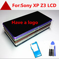 For Sony Xperia Z3 D6603 D6643 D6653 LCD Display + Touch screen with digitizer Assembly + Bezel Frame, Black Free shipping