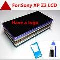 Para sony xperia z3 d6603 d6643 d6653 display lcd + touch screen com digitador assembléia + moldura do quadro, preto Frete grátis