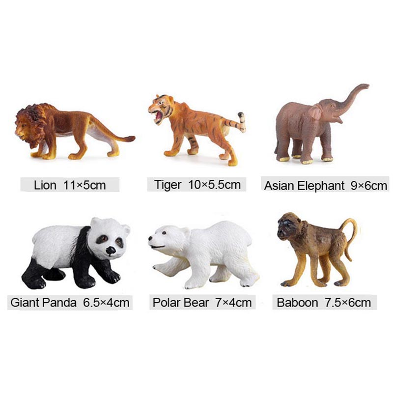 Conjunto de juguete modelo animal figuras de acción tigre león ...