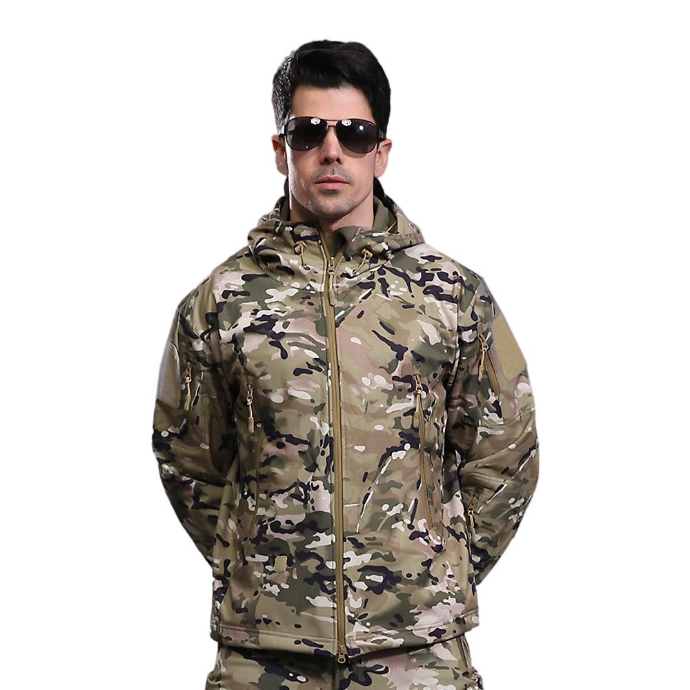 Fleece Jacket Coat Military Tactical Hiking Soft Outdoor Winter Windproof Camping Men