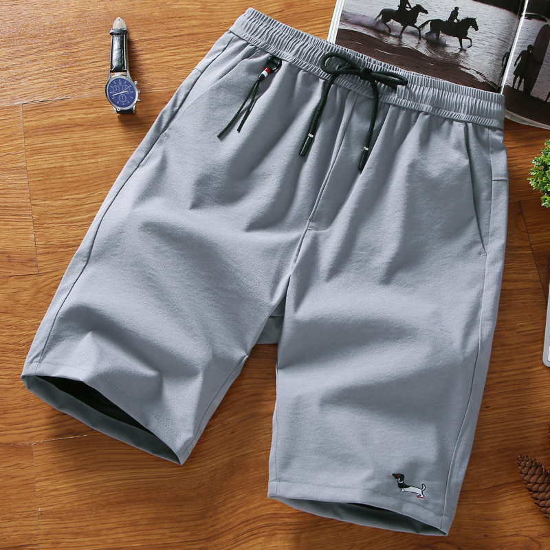 2018 New Men Shorts Cotton Casual Shorts For Men Elastic Waist Summer Drawstring Solid Shorts Personalized High Quality 4XL