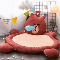 Fancytrader Big 140cm X 110cm Soft Animal Bear Owl Bunny Lion Plush Baby Game Pad Mattress Carpet Anti skid Soft Cartoon Toy