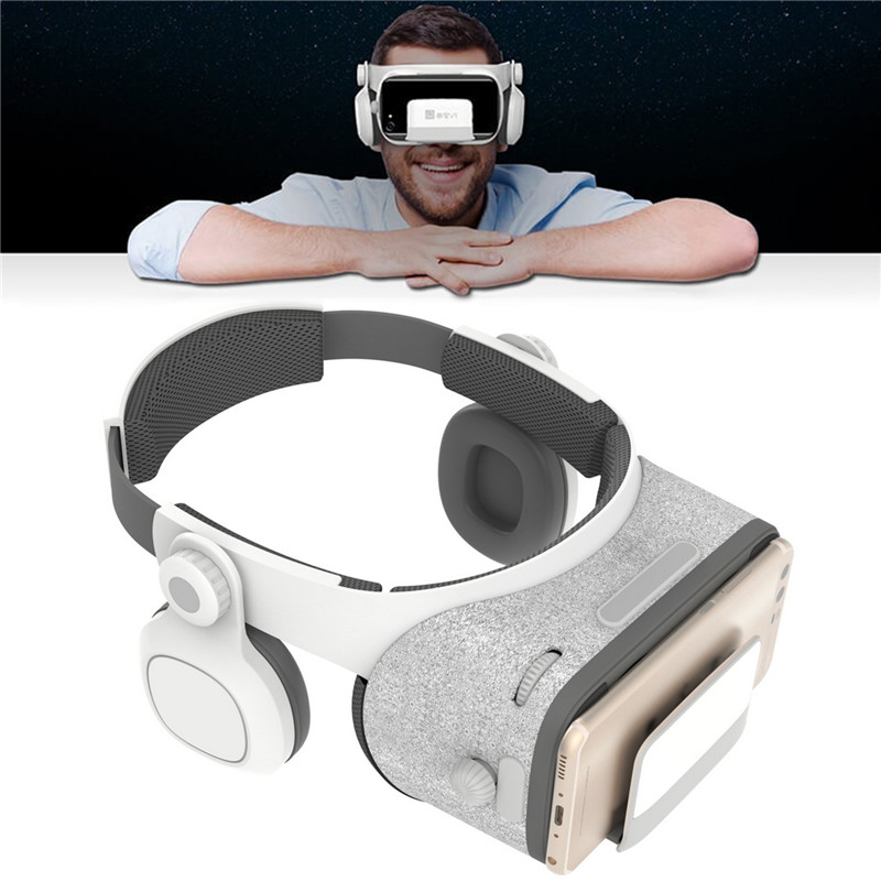 Virtual Reality Headset VR Glasses with Headphone Visore 3D Immersive Viewer Watch 3D Movie/Video/Game VR Goggles Headset Case