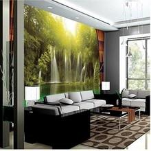 цена на 3d stereoscopic wallpaper chinese HD mountain & water TV backdrop wallpaper living room bedroom papel de parede
