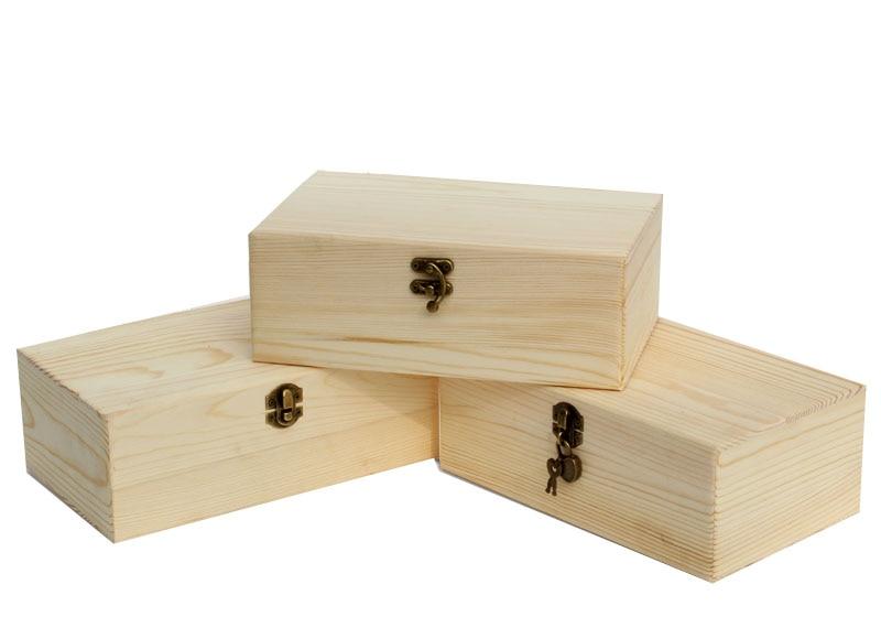 Wood Box For Jewelry Free Shipping 2pcs lot 25 15 9cm Wood Jewelry Gift Storage Box