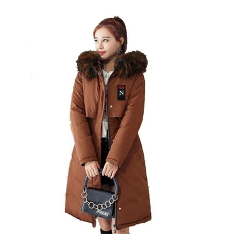red Black J992 navy Big Women army Print Winter Padded Warm Women's Collar Hoodies Green caramel Woman Coat Fur Parkas Blue gray Cotton wHwOx6q