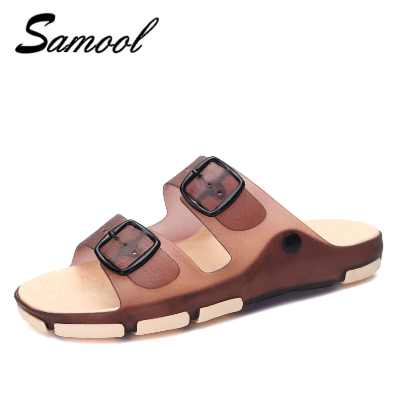 spring summer men sandals jelly Ultra-light ultra-soft Bath Flip Flops Anti Slip Casual Sandal shoes men zapatos hombre J4