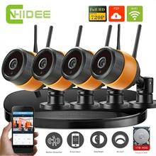 4CH Wi-Fi NVR P2P Камеры Безопасности CCTV Комплекты 720 P 1200TVL Главная крытый Открытый Беспроводной ИК-Видеонаблюдения Системы + 1 Т HDD 29 [