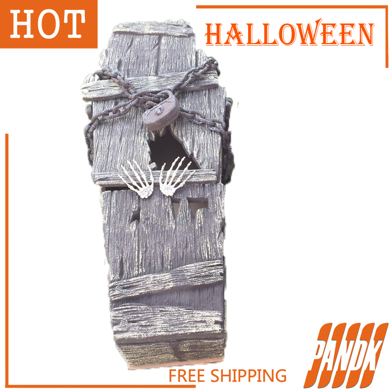 aliexpresscom buy coffin trinket box halloween coffin halloween decorations props haunted house ideas halloween tombstone party yard free shipping from