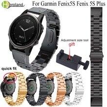 Correa de acero inoxidable para reloj Garmin Fenix 5s /5S plus, pulsera inteligente de Metal de liberación rápida, 20mm