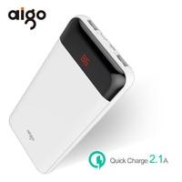 Aigo 20000mAh Power Bank LCD Display 2 USB Outports Powerbank For Xiaomi Mi Portable External Battery
