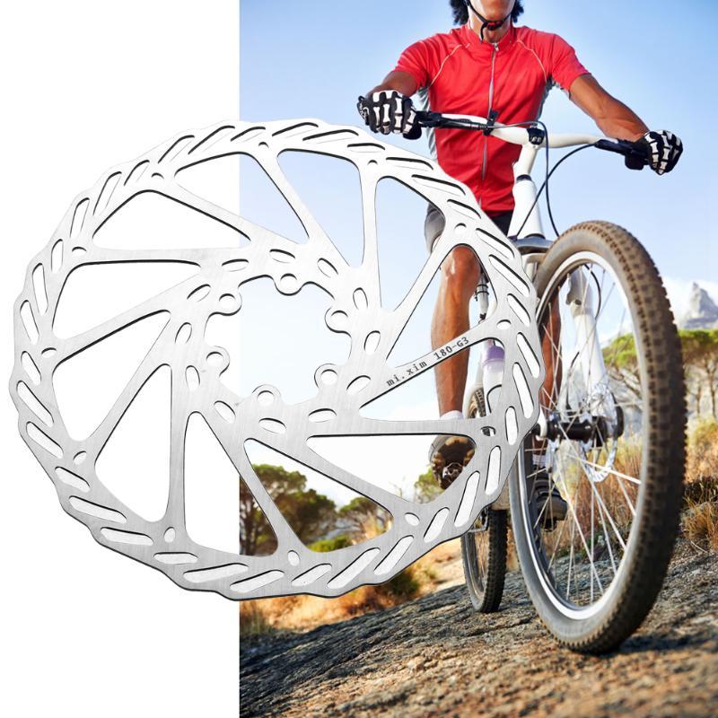 180/203mm Montagne Vélo De Route Vélo Disque De Frein VTT Vélo Flottant Plaquettes 6 Boulon Rotors Vélo Pièces Accessoires + 6 pcs vis