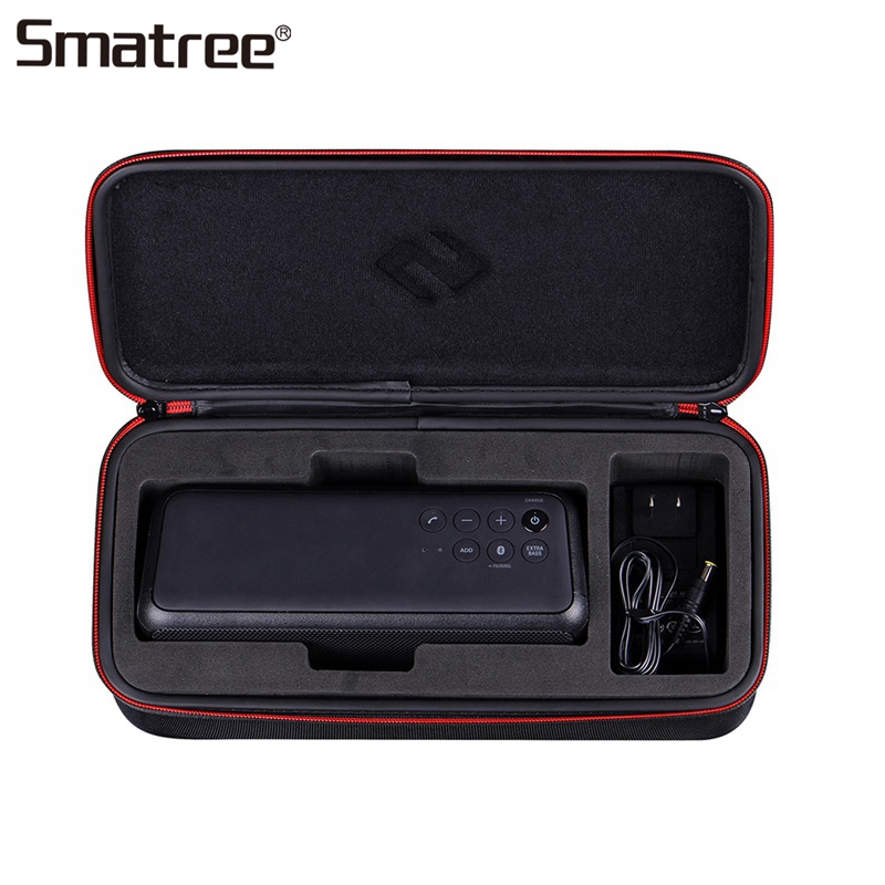 Smatree Portable Wireless Bluetooth Speaker Bag Speaker Carrying Case Black Protective Bags for Sony SRS XB3