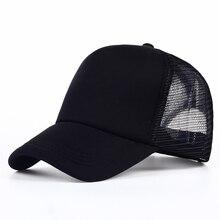 ea4723c8 VORON 6 color Cheap Mens Plain Trucker Hats for Spring Summer Womens Blank  Mesh Snapback Caps