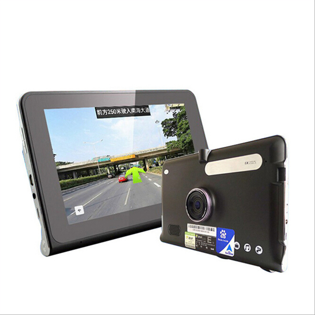 7 polegada tela capacitiva HD Navegador de Carro, embutido 8G/512 M mapa de navegação para automóveis da Europa e nos Estados Unidos.