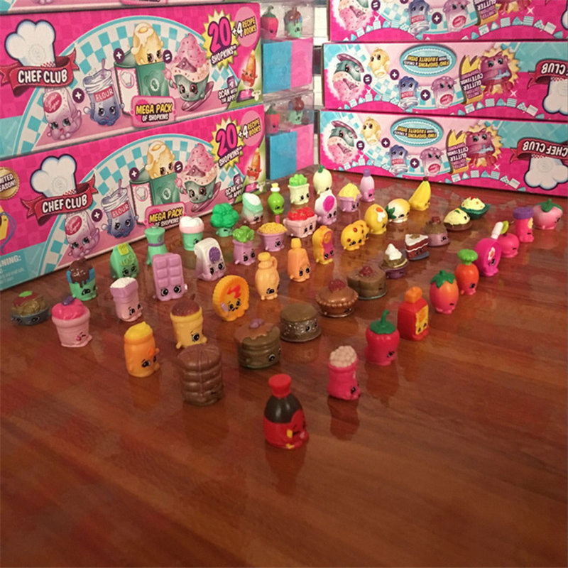 50Pcs/lot Fruit Shop Action Toy Figures Kins For Family Dolls Kids Christmas Gift Playing Toys Mixed Seasons 1 2 3 4