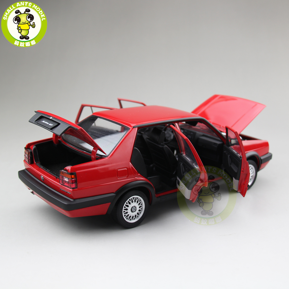 1/18 JETTA GT Diecast Car Model Toys For Kids Boy Girl Birthday Gift Collection Red color
