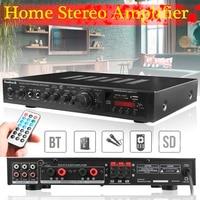220V 300W+300W+120W 5CH Bluetooth Stereo AV Surround Amplifier Karaoke Cinema PA High Power Digital Audio Amplifier