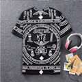 2016 бренд RHUDE л. а. Бандана Печати camisetas masculinas HARAJUKU ktz футболка мужская хлопок хип-хоп футболка мужская мода swag фитнес