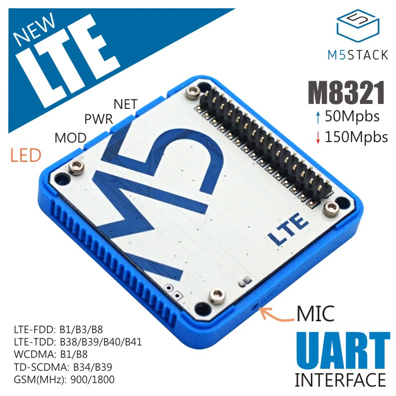 M5Stack Official LTE M8321 Module Wireless Communication Module M2M Industrial