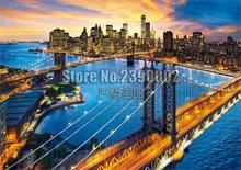 DIY 5D Diamond Painting New York City Bridges Sunrise Sunset Cross Stitch Embroidery Decoration Mosaic Home Decor Gifts