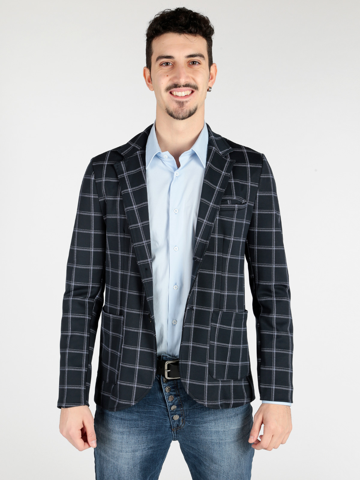 Blazer Plaid Shirt With Pocket