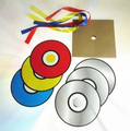 free shipping Hot sale Color changing CD 6pcs paper CD paper bag magic tricks magic toy