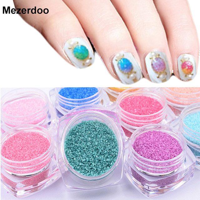 Online Shop Mezerdoo Nail Art Glitter Powder Decorations Candy Coral