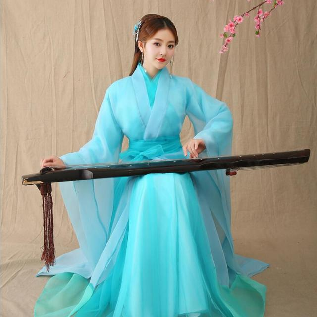 c24e70c75 Chinese ancient costume Traditional women hanfu dress TV film fairy  Princess performance wear Dynasty Opera Chinese Hanfu Dress