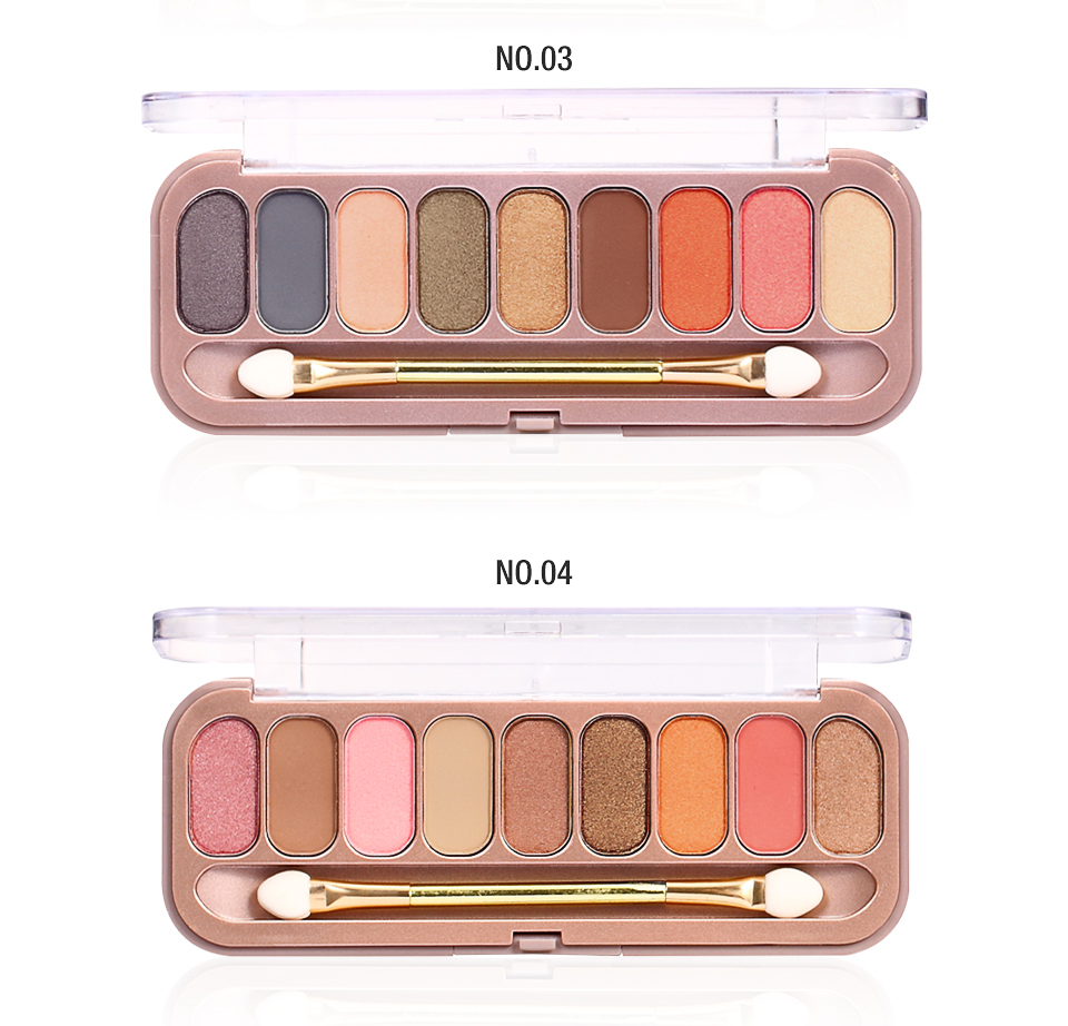 O.TWO.O® 9 Colors Eye-shadow Palette With Brush 4