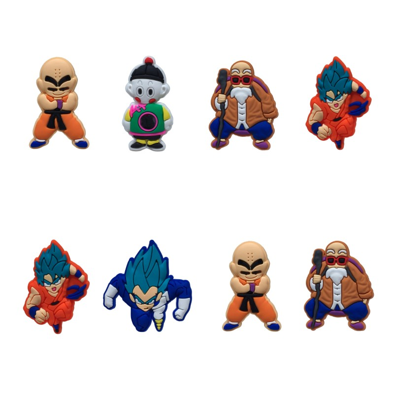 8pcs/lot Dragon Ball Fashion Cartoon Figure Refrigerator/Fridge Magnets Home Decor Cool Magnetic Whiteboard Sticker Kid Toy Gift