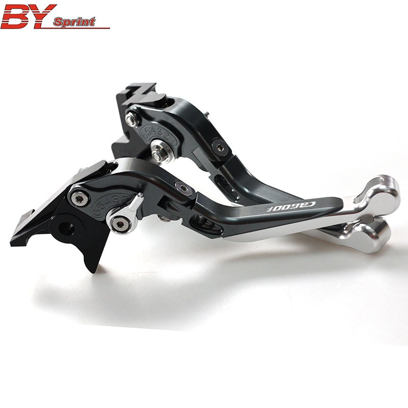 Logo CB600F CNC Adjustable Motorcycle Foldable Extending Brake Clutch Lever For Honda CB600F CB <font><b>600</b></font> F <font><b>Hornet</b></font> <font><b>2007</b></font>-2013 image