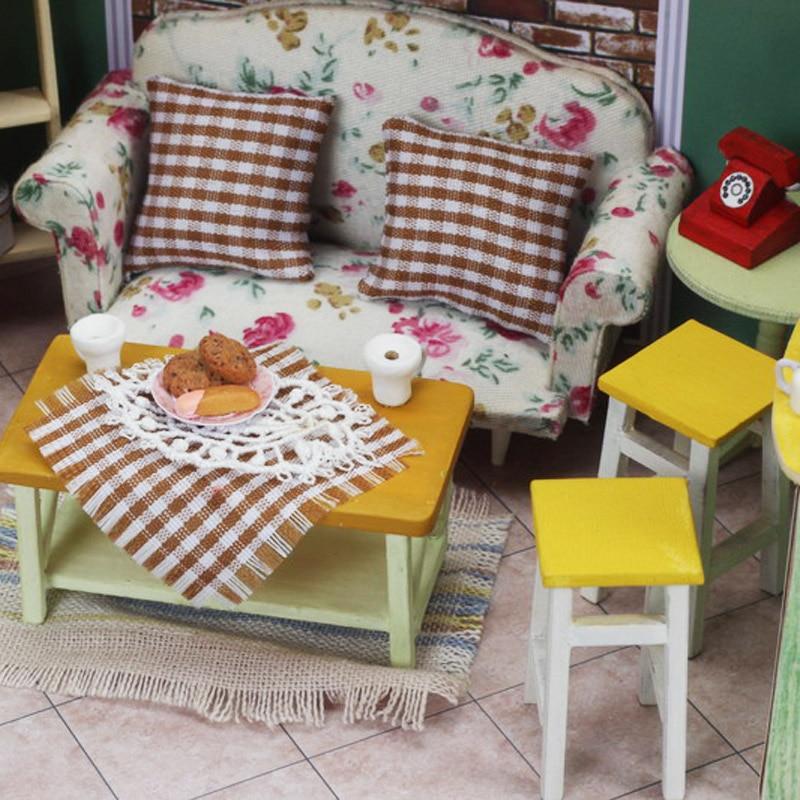 Isla verde té 3D de madera casa de muñecas muebles miniatura - Muñecas y peluches - foto 6