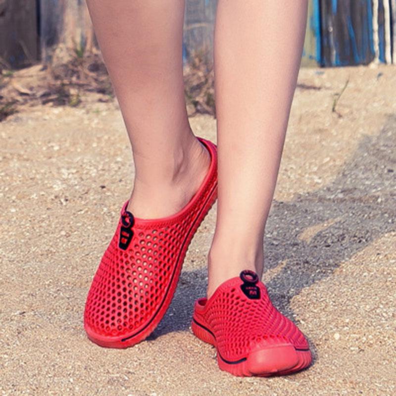 Men Sandal Fashion Summer Breathable Beach Shoes men Slip On Casual Mens Flats Sandals EVA Slippers Blue plus size