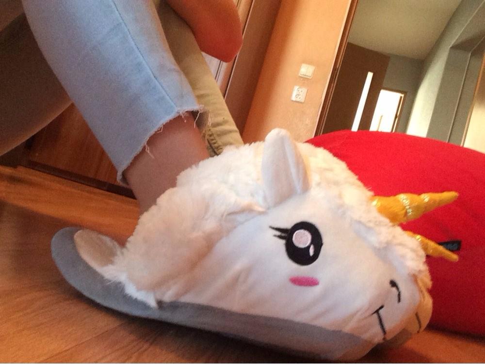 HTB1r5f7NXXXXXcGXXXXq6xXFXXXC - Indoor Slippers Plush Home Shoes Unicorn Slippers for Grown Ups Unisex Warm Home Slippers Shoes