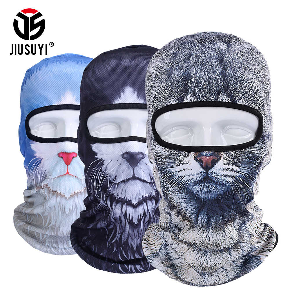 35528e712f3 ... New 3D Animal Dog Cat Balaclava Cap Halloween Hats Bicycle Skiing  Sports Protection Helmet Full Face ...
