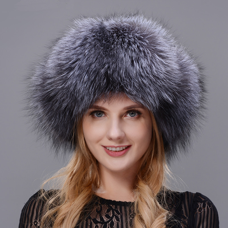 Winter Womans Fur Hat Protects The Ears Of The Hat Winter Skiing Warm Leather With Natural Fox Fur Or Raccoon Fur Cap Whole Fur